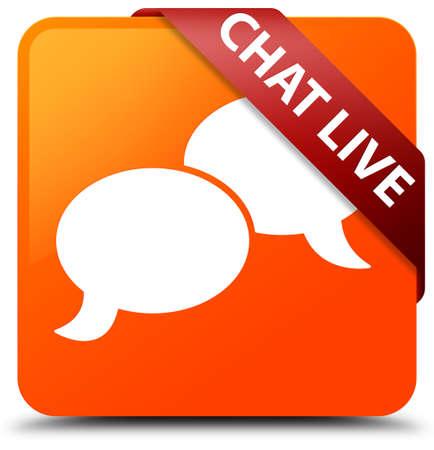 Chat live orange square button