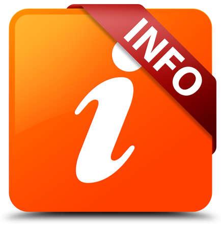 inform information: Info orange square button Stock Photo