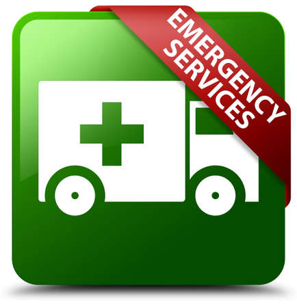 Emergency services green square button