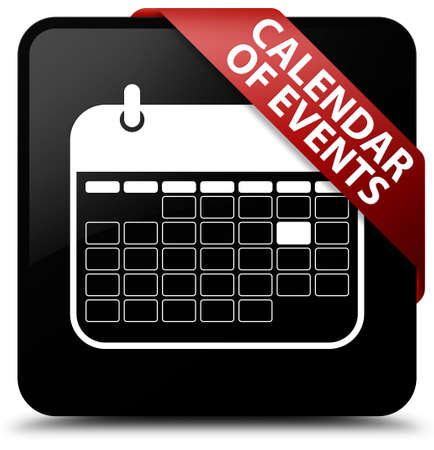 event planner: Calendar of events black square button