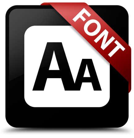 small size: Font black square button
