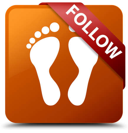 Follow (footprint icon) brown square button