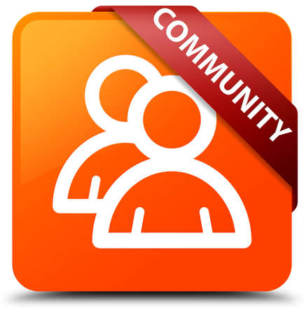 Community (group icon) orange square button