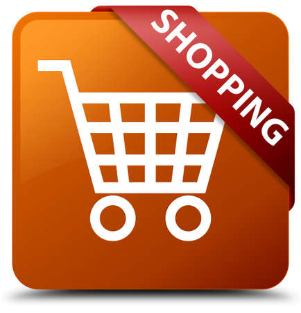 Shopping brown square button