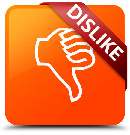 disapprove: Dislike orange square button