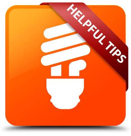 Helpful tips (bulb icon) orange square button
