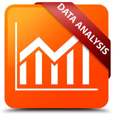 stat: Data analysis (statistics icon) orange square button