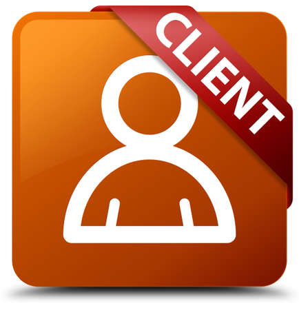 Client (member icon) brown square button