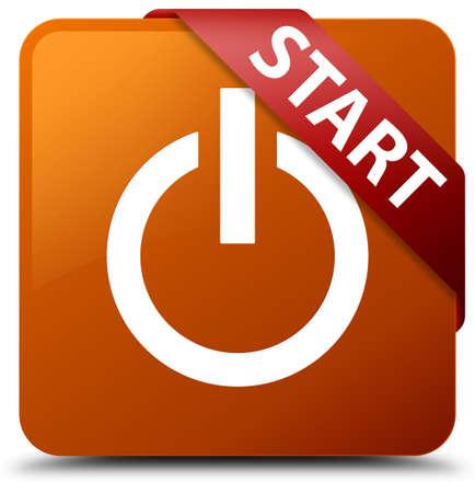 square button: Start (power icon) brown square button
