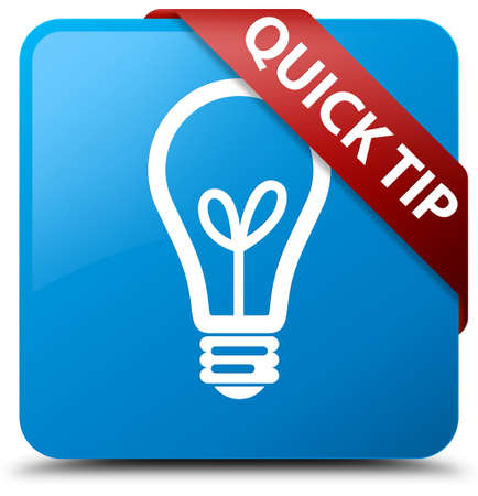 Quick tip (bulb icon) cyan blue square button