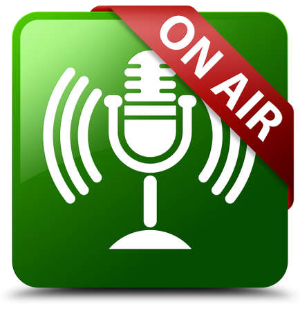 On air (mic icon) green square button