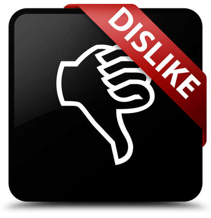 disapprove: Dislike black square button