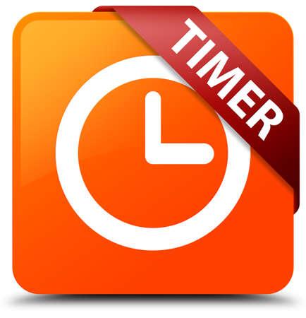 Timer orange square button