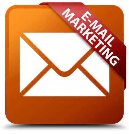 E-mail marketing brown square button