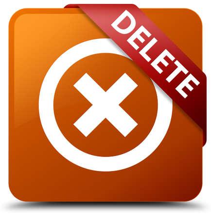 square button: Delete brown square button