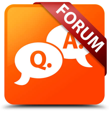 Forum (question answer bubble icon) orange square button
