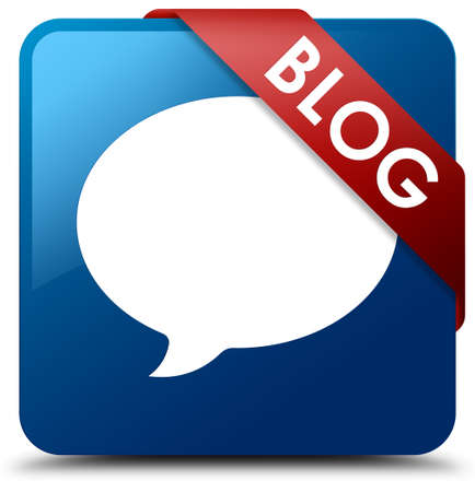 blue button: Blog (conversation icon) blue square button
