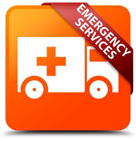 Emergency services orange square button