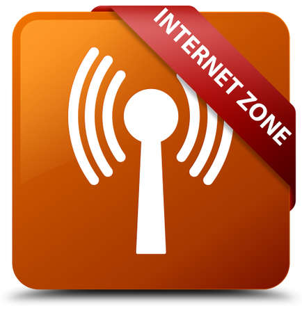 in the zone: Internet zone (wlan network) brown square button