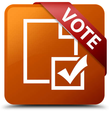 Vote (survey icon) brown square button