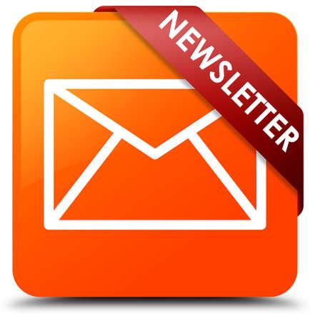 Newsletter orange square button