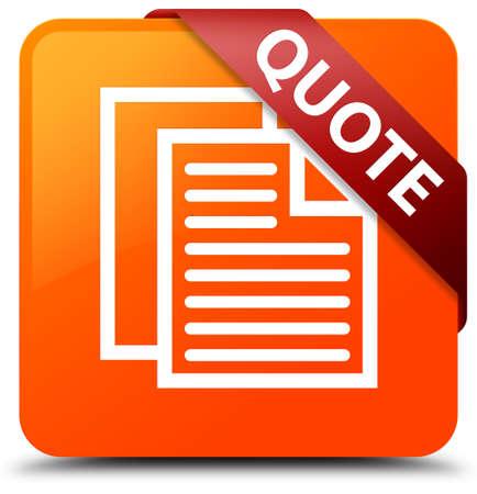 Quote (document pages icon) orange square button