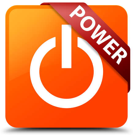 Power orange square button