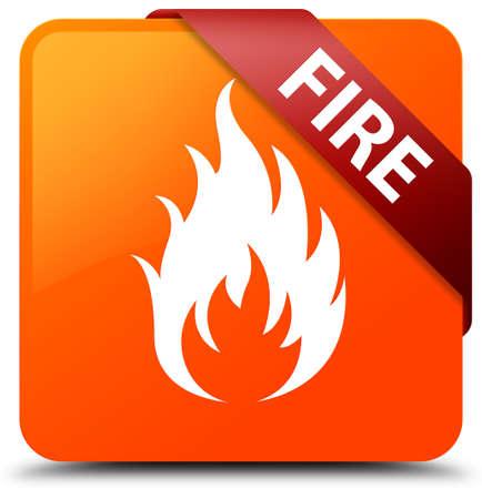 Fire orange square button