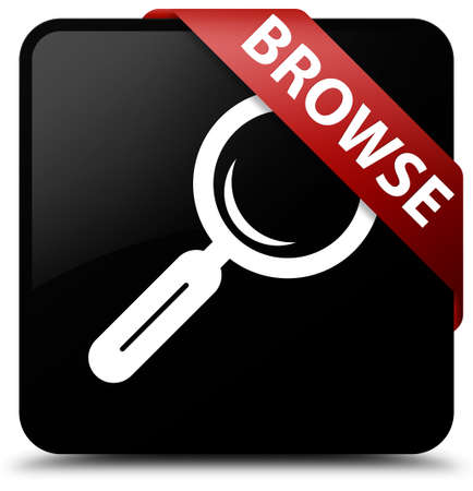 browse: Browse black square button