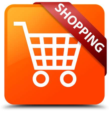 Shopping orange square button
