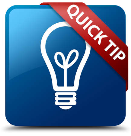 hints: Quick tip (bulb icon) blue square button