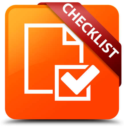 Checklist orange square button