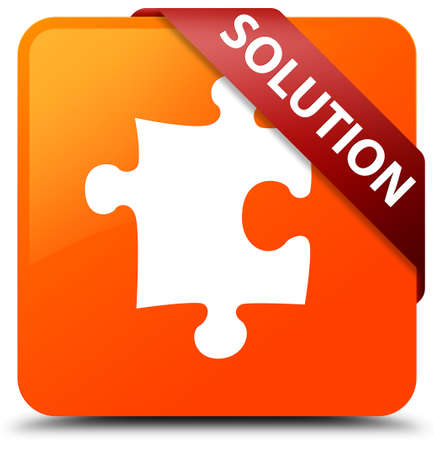 Solution (puzzle icon) orange square button
