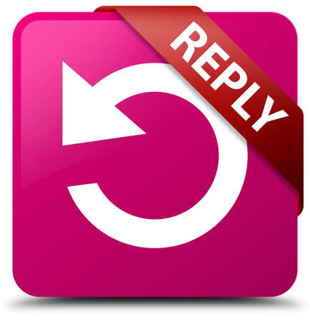reply: Reply (rotate arrow icon) pink square button
