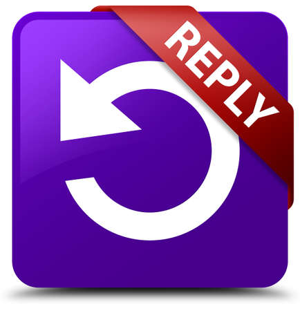 reply: Reply (rotate arrow icon) purple square button