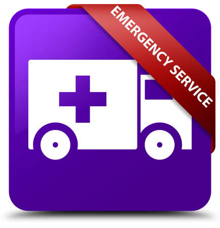 Emergency service purple square button