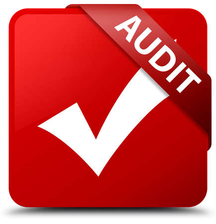 validate: Audit (validate icon) red square button