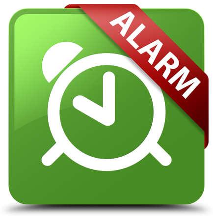 Alarm soft green square button