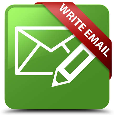 Write email soft green square button