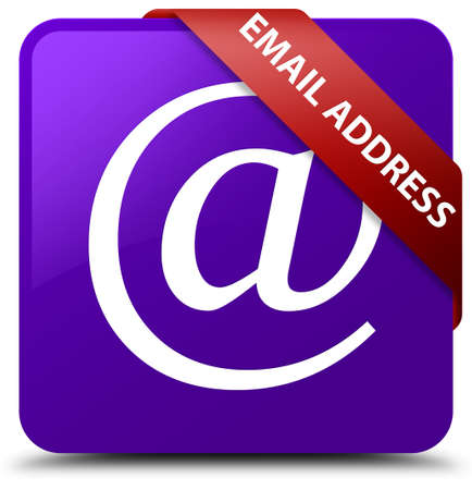 Email address purple square button