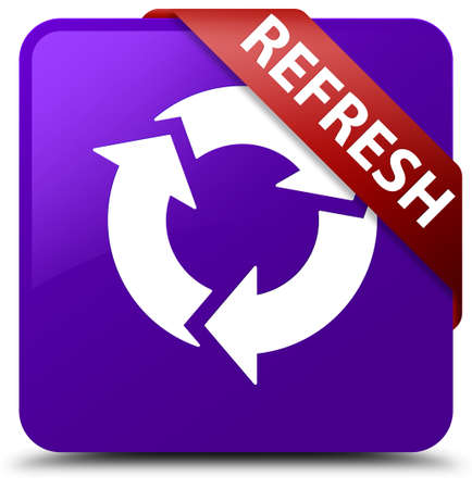 refrescar: Actualiza botón púrpura cuadrada