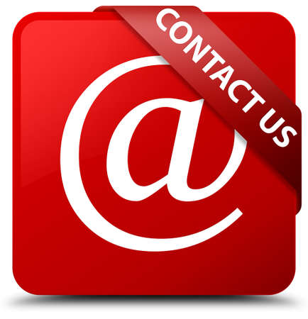Contact us (email address icon) red square button
