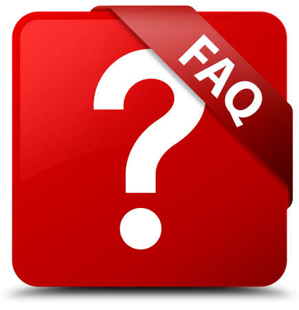 Faq (question icon) red square button Stock Photo
