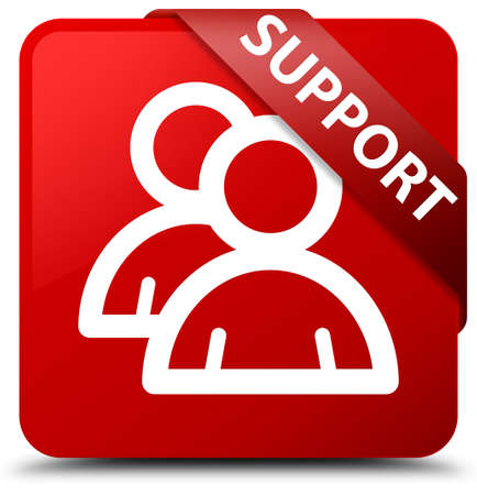 Support (group icon) red square button