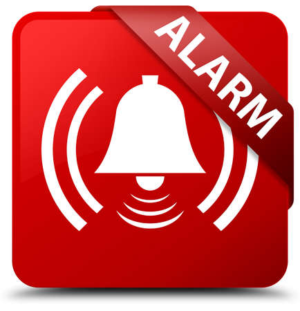 Alarm (bell icon) red square button