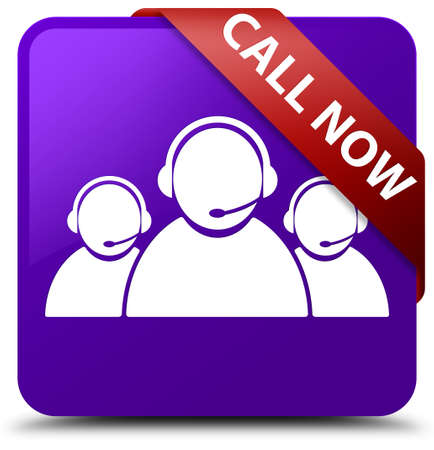 Call now (customer care team icon) purple square button