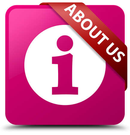 about us: About us pink square button