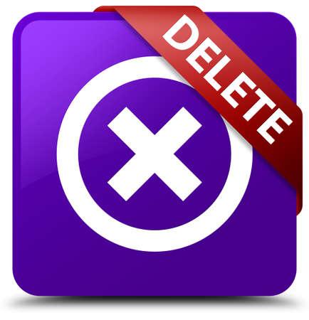 Delete purple square button