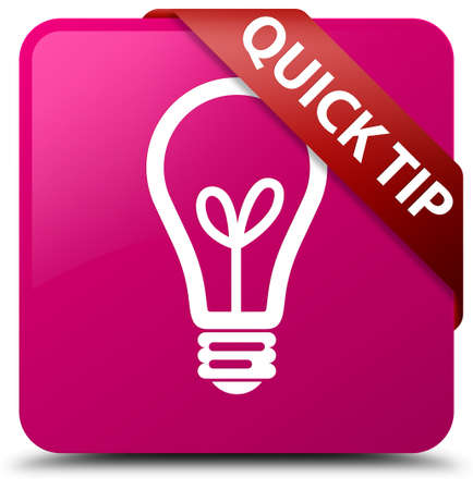 tip to tip: Quick tip (bulb icon) pink square button