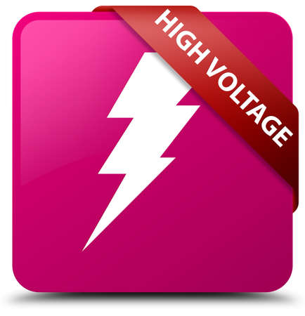 high voltage: High voltage (electricity icon) pink square button